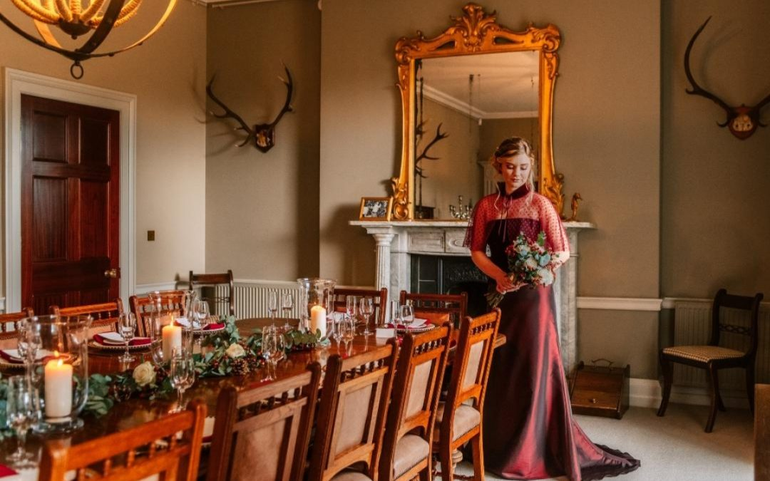 Festive wedding inspiration at Burncoose House
